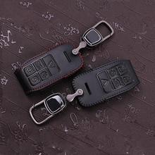 Кожа чехол Для Ключей подходит для volvo xc60 s60 v60 v40 s80 кожаные чехлы ключевые 5 кнопки ключ