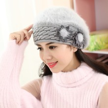 Sombreros de invierno cálido para las mujeres 2018 lana boina de punto sombrero  mujer gorras de 0dff267ed03