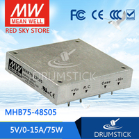 MEAN WELL MHB75 48S05 5V 15A meanwell MHB75 5V 75W DC DC Half Brick Regulated Single Output Converter