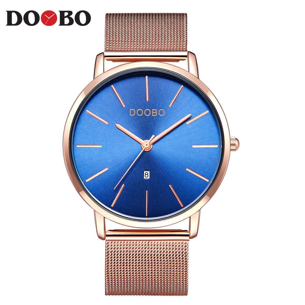 DOOBO ультра тонкие модные мужские часы Топ люксовый бренд бизнес кварцевые часы платье спортивные часы мужские часы Relogio Masculino