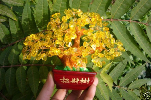 AAA Lucky Tree!! Natural Pretty Citrine Yellow Crystal Gem Tree