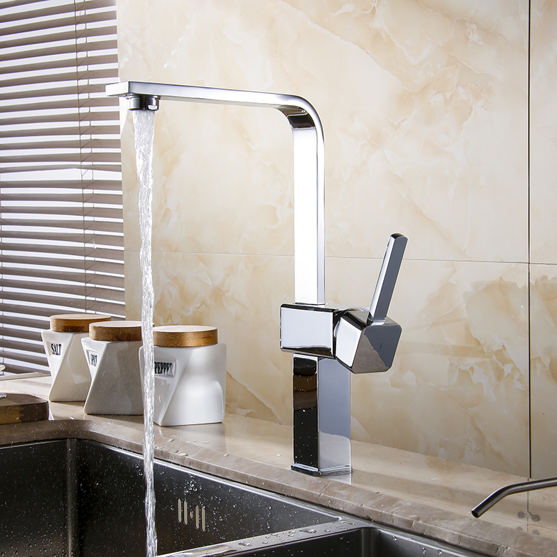 ФОТО Kitchen faucet Copper for cold and hot water tap Sink faucet Vegetable washing basin 360 degree rotating faucet GYD-5123L