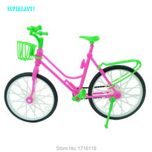 Toy Bicycle 1:6 Bike Morden Cycling Kids Play House Plastics Accessories For Barbie Doll FR Kurhn 11 12 inch Puppet Girl Gift(China)