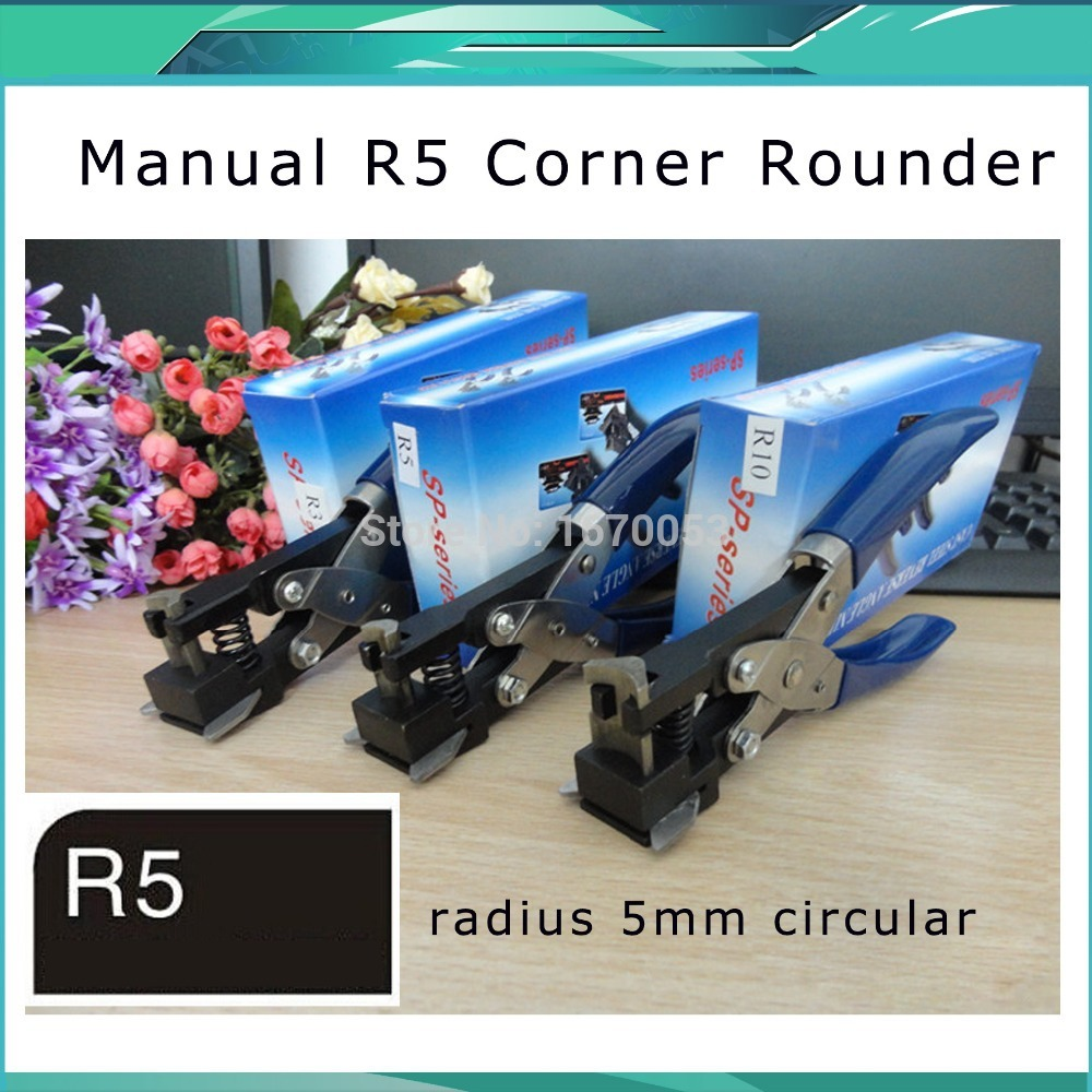 Free Shipping Radius Hand Held ID Business Criedit PVC Paper Card Corner Rounder Punch Cutter Pliers Slot Punch Size: R5/R3/R10
