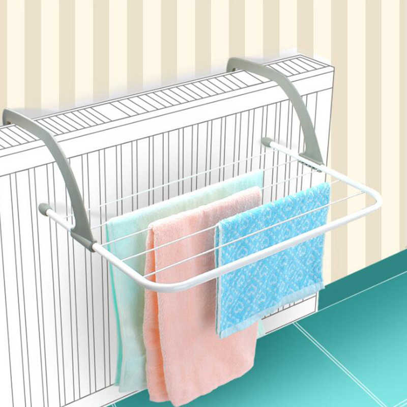 1Pc Foldable Outdoor Clothes Dry Rack For Towel Dryer Storage Holder  Hanger Shelf Drying Storage Radiator Metal Hook
