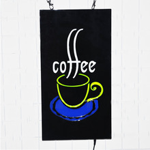 43*23cm LED Neon Light coffee Open Sign With Animation On/off