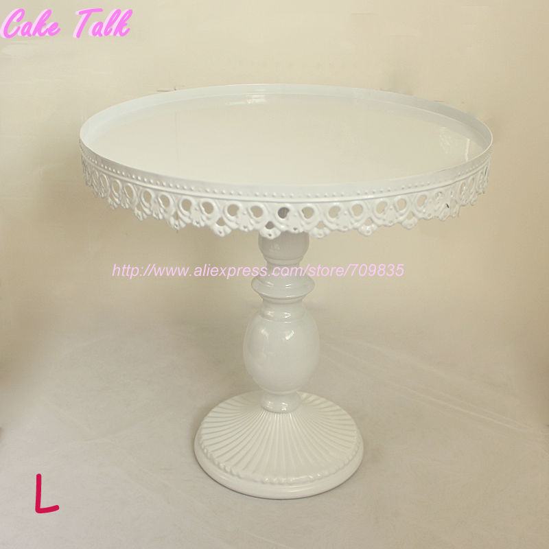 IMG_2624 IMG_2623 IMG_2622 & Set of 3 white wedding cake stand party decorator cupcake plate ...
