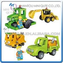 Full Set 4pcs/lot Mini Qute LOZ Engineering vehicle boys car truck gift block building blocks cartoon figures educational toy