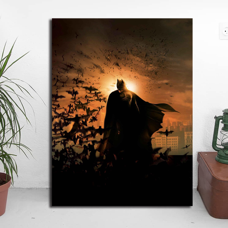 Dark Knight Batman 39 s Marvel Super Heroes Canvas Painting Oil Print Poster Wall Art Picture for Living Room Home Decoration in Painting amp Calligraphy from Home amp Garden