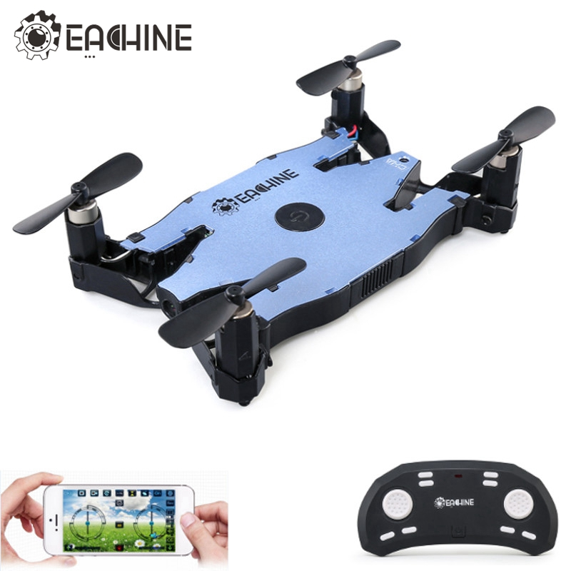 Eachine E57 WiFi FPV Selfie Drone With 720P Camera Auto Foldable Arm Altitude Hold RC Quadcopter RTF VS JJRC H49 H37 in stock eachine e57 wifi fpv selfie drone with 720p camera auto foldable arm altitude hold rc quadcopter rtf vs jjrc h49 h37