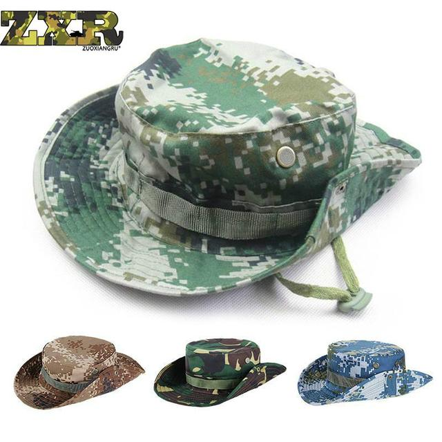 2092c8b4fec Multicam Tactical Airsoft Sniper Camouflage Bucket Boonie Hats Nepalese Cap  Military Army American Military Accessories Men
