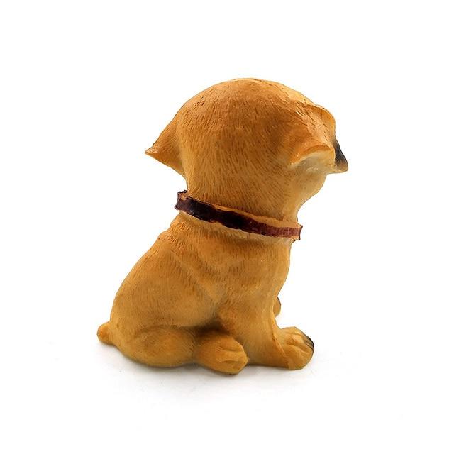 1pc Famous Dogs Model puppy Status Home Office Car ornament Decor Cartoon Figurines People Animal statue resin craft TNJ016 5