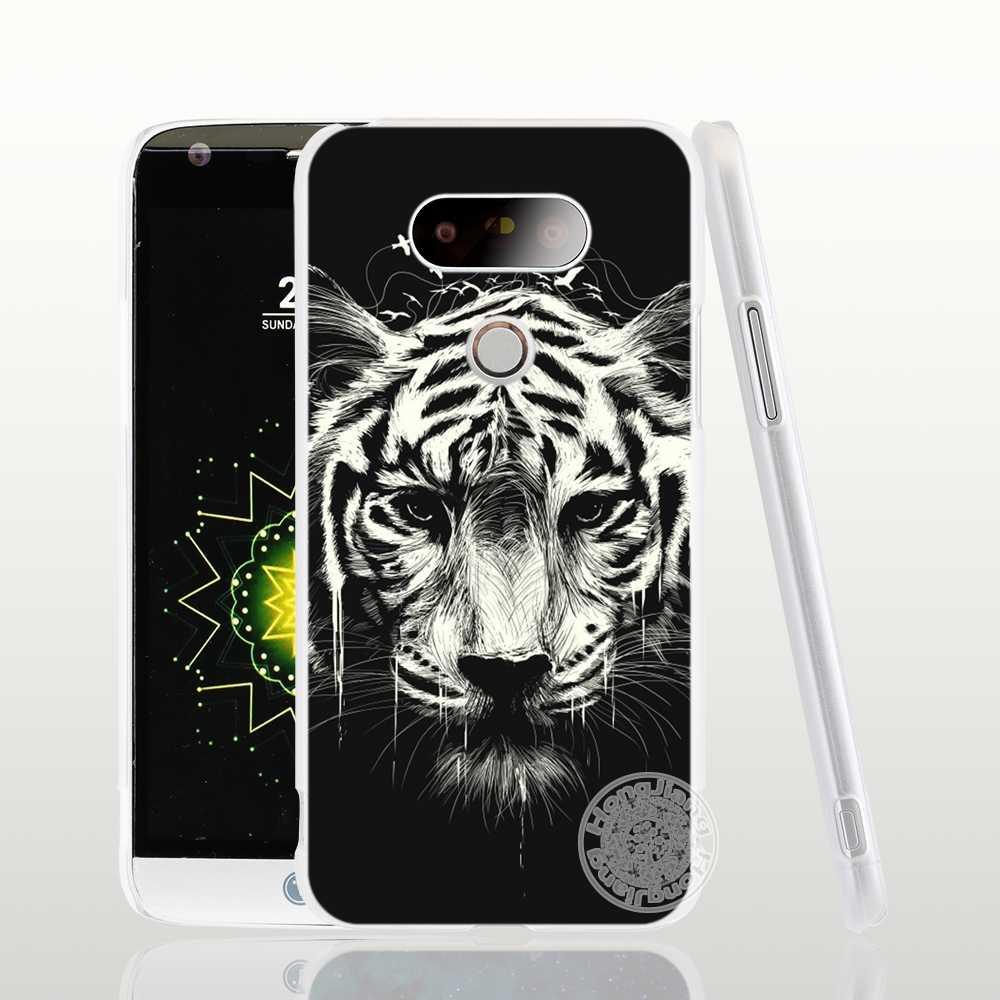 HAMEINUO perro Tigre y caso de la cubierta del teléfono para LG G6 G5 K10 K7 K4 espíritu magna