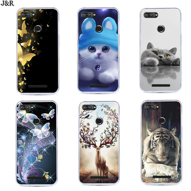 K320T For Lenovo K320T 5.7'' Case Silicone Soft TPU Back Cover For Lenovo K320T  K320 T Protective Painted Flower