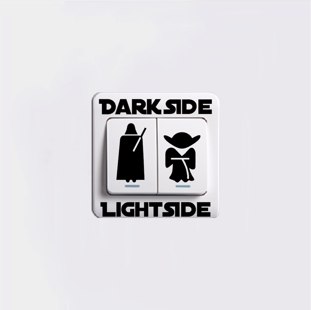 Star Wars Dark Side Light Side Switch Sticker