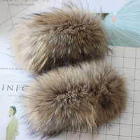NEW Fashion Women Winter Real Fox Fur Cuff Sleeve Lady Hand Wear White/Pink Genuine Raccon Fur Cuffs Decoration Bracelet