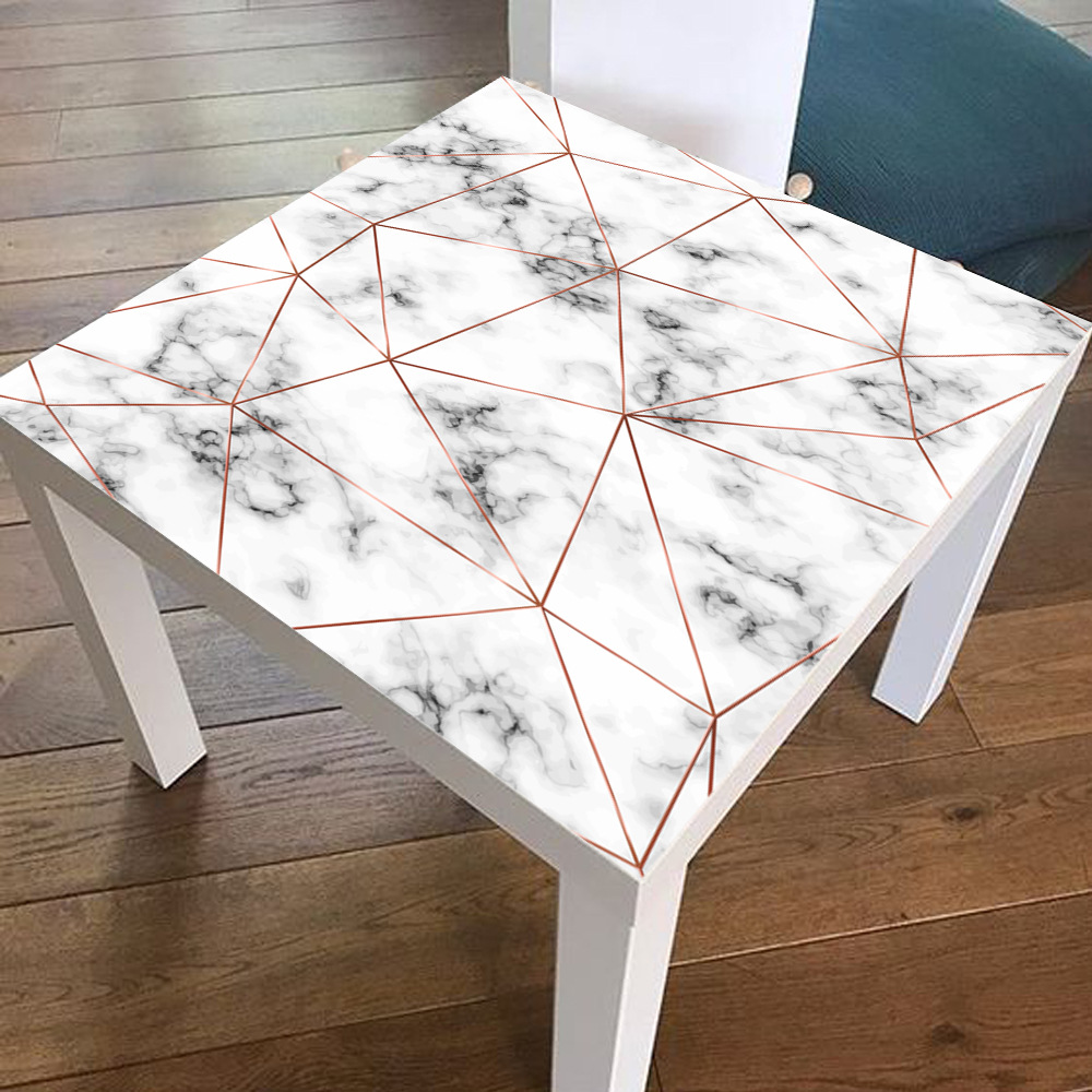 Marble Gold Polygon Line Tile Stickers Table Tops Wall Art