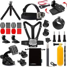 27 In 1 Sport Action Camera Accessories Kit for Gopro Hero 7 6 5 4 3 Head Strap Wrist Strap Mount Selfie Stick for AKASO EK5000(China)