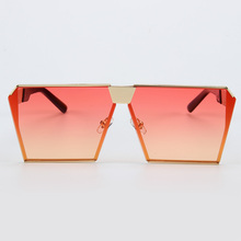 kesmall GIRL 2017 New Color Women Sunglasses Unique Oversize Shield UV400 Gradient Vintage eyeglasses frames for Women #ss953