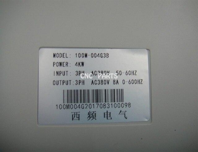 4kw VFD AC380V, 0-400 hz inverseur for4KW moteur de broche de refroidissement eau/air, pilote de moteur de broche