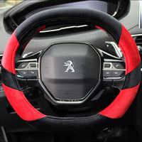 KKYSYELVA Cubierta del volante del coche para Peugeot 4008 Peugeot 5008 nueva 508 de rueda de Auto covers interior Accesorios
