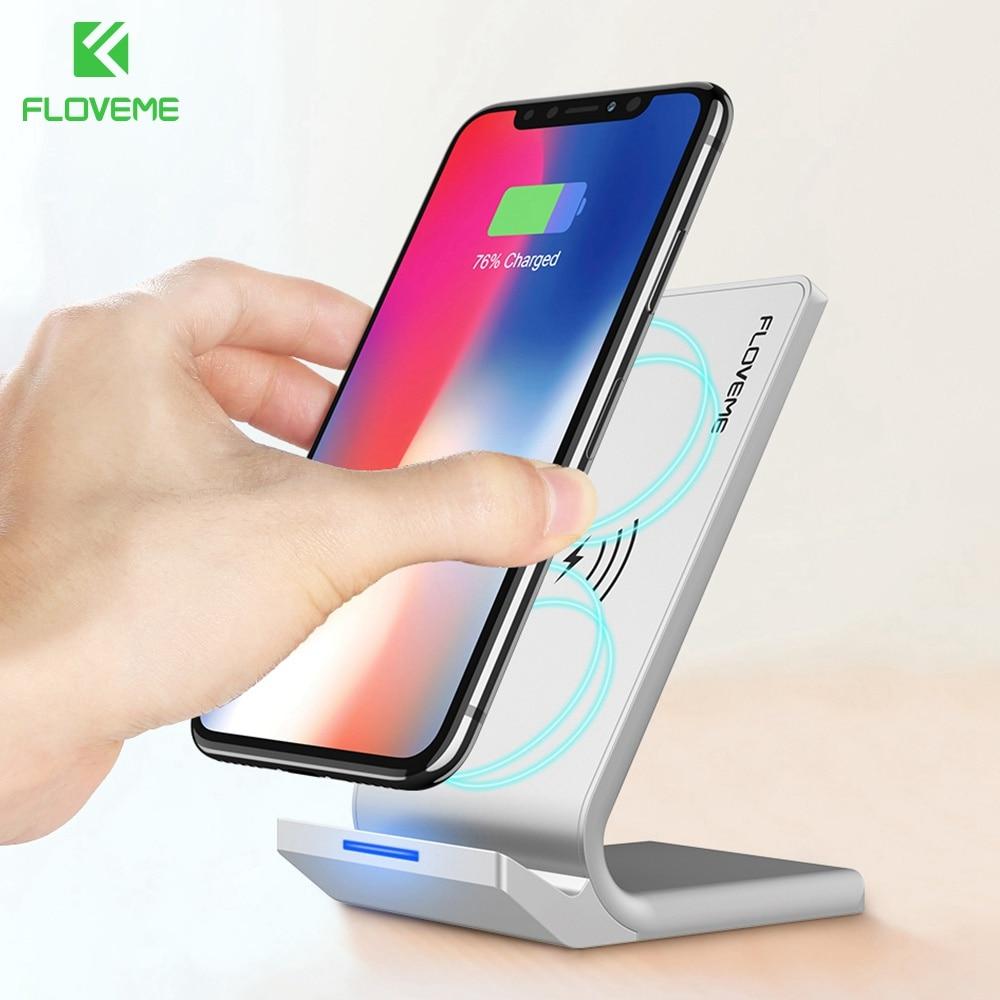 FLOVEME QI Caricatore Senza Fili Per iPhone X 10 8 Più Il Telefono trasporto Veloce ricarica Per Samsung Galaxy S9 S8 S7 S6 Bordo Nota 8 Dock stazione
