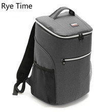 Rye Time 20L Large Thicken Folding Fresh Keeping Waterproof Nylon Cooler Bag For Steak Insulation Thermal Bag 600D