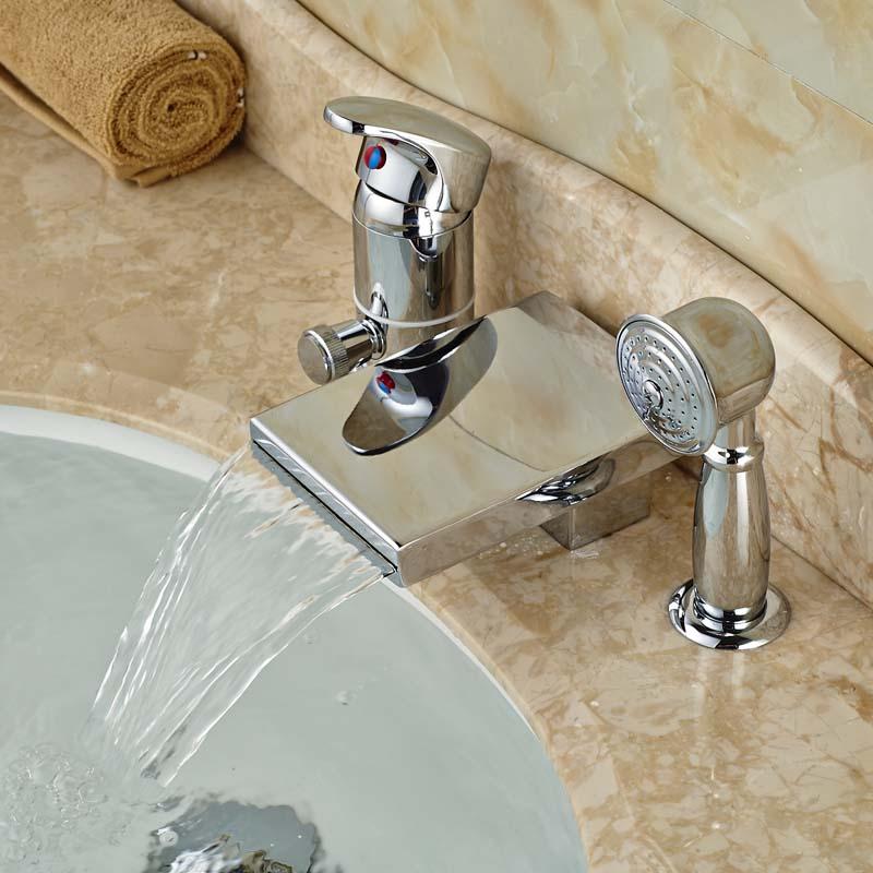 Brass Material Chrome Finish Bathroom Basin Sink Faucet ...