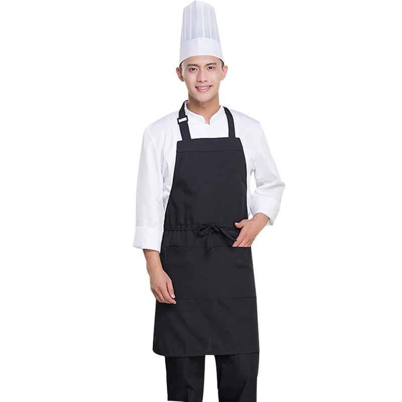 2020 New Fashion Adjustable Work Apron Cooking Kitchen Apron For Women Men Bib Unisex Waiter Cafe Shop Professional Pinafore