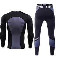 Men Quick Dry Long Johns Winter Fitness Gymming Sporting Suit Runs Top Shirts + Tight Leggings Pants Thermal Underwear Sets