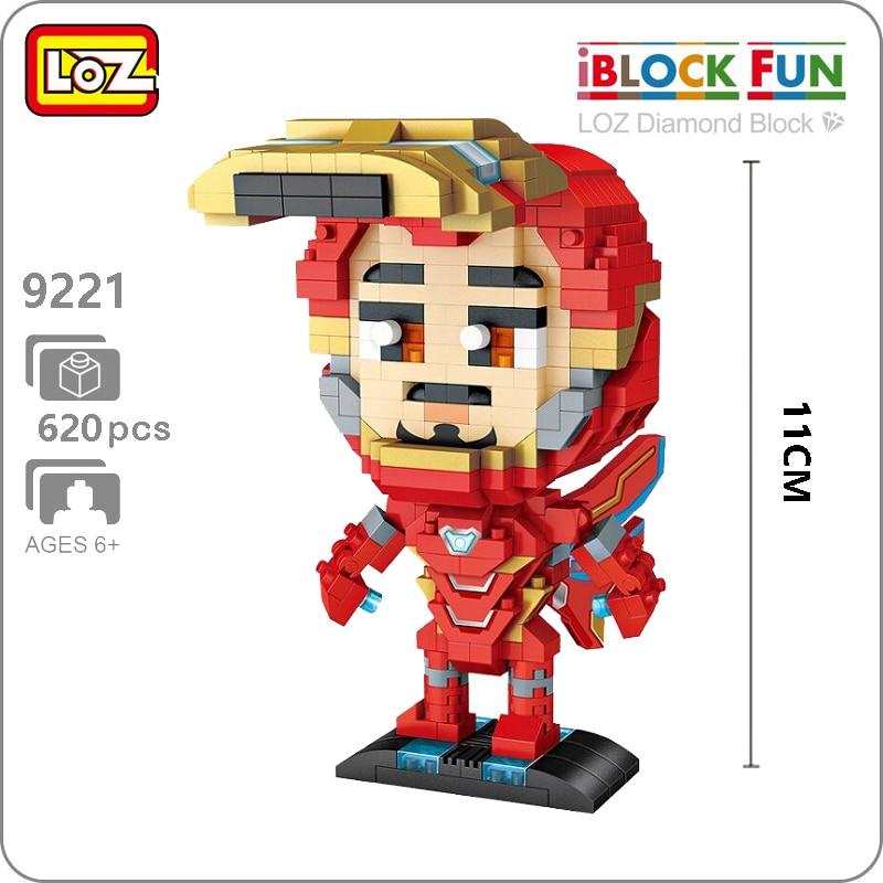 LOZ 9221 Marvel Avengers Red Iron Man Super Hero 3D Model DIY Nano Blocks Bricks Diamond Mini Building Toy for Children no BoxLOZ 9221 Marvel Avengers Red Iron Man Super Hero 3D Model DIY Nano Blocks Bricks Diamond Mini Building Toy for Children no Box