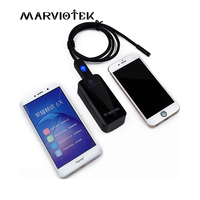 USB Wifi Endoscope With 7mm Dia 6LEDs Mini Camera 1 2 5 M Cable IOS Android