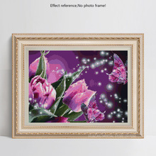 Flower colorful DIY Diamond Embroidery
