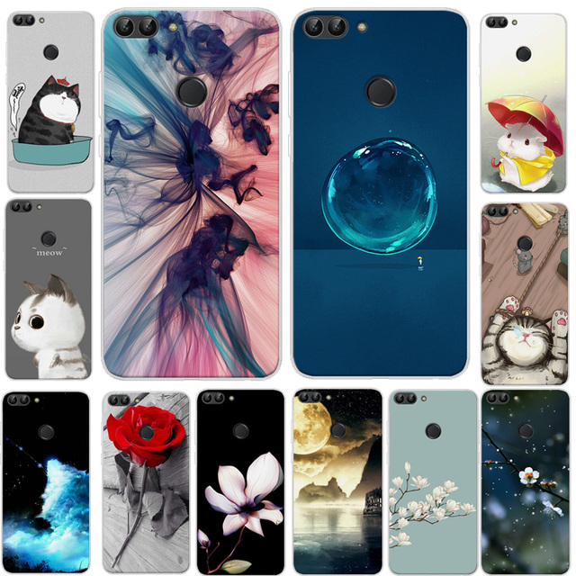 quality design e2f80 437c4 US $4.98 |For Huawei Y7 Prime 2018 Case Soft Silicone TPU Cover Cartoon  Phone Case For Huawei honor 7C 5.99