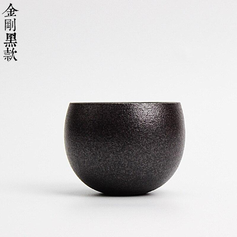 Gaya jepang Drinkware Kuno Kiln Kasar Tembikar Cangkir Teh Keramik - Dapur, ruang makan, dan bar - Foto 6