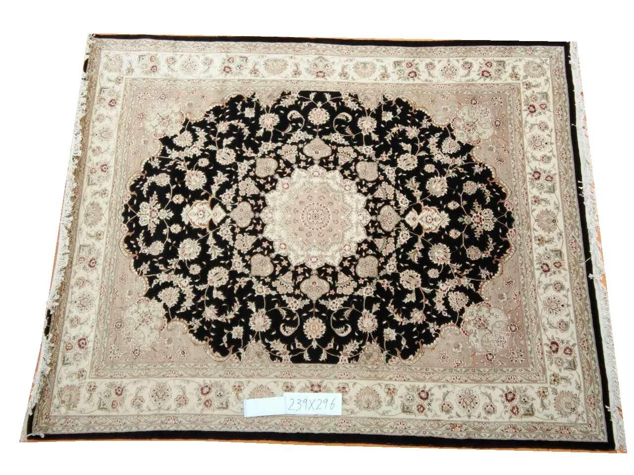 Tapis fait main tapis maison pour salon tapis carré Style persan tapis laine tapis à tricoter