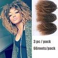 "3PCS Synthetic Marley Braid Hair 8""90g Havana Mambo Twist Crochet Braiding Hair For African American Women Afro Braids Mega Hair"