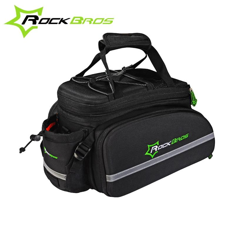 цена на ROCKBROS Outdoor Sports Bicycle bag Cycling Bike Bicycle Bag Multifunctional Cycling Frame Rack Pack Large Capacity Travel Bag