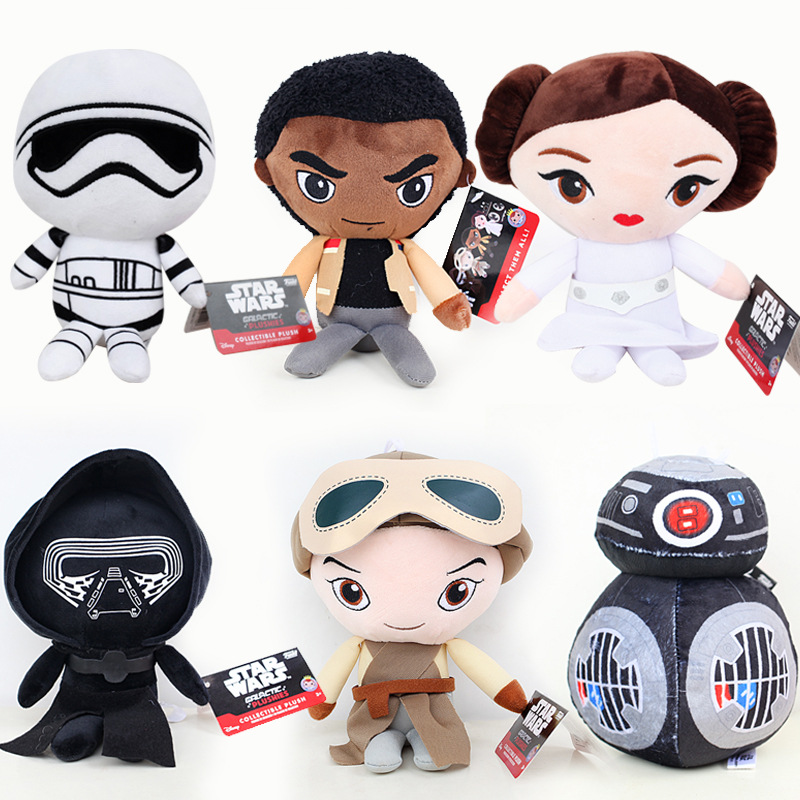 Star Wars 8 Plush Toys Doll 20cm The Last Jedi Storm Trooper Darth Vador Finn Rey BB-9E Plush Stuffed Toys for Children Gifts