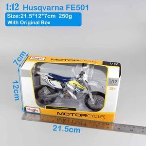 Image 5 - Maisto 1/12 2015 KTM אופנוע בקנה מידה HUSABERG FE 501 Husqvarna FE501 אופני עפר מוטוקרוס Diecast & כלי רכב מתכת רכב דגם צעצוע