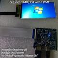 5.5 polegada 1440 p hdmi exibição da tela 1440*2560 com hdmi para mipi para óculos de realidade virtual dk2 raspberry pi DIY para 3d de impressora 3
