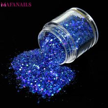 1Pc Shiny Laser Nail Glitter Flakes 10ML Mix Hexagon Paillette Sequins Powder Dust Holographic Art Manicure Decoration MA01