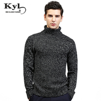 2017 NEW Arrived Men Winter Sweaters High Neck Knitted Basic Knitwear Homme Pull Pullovers Turtle Neck