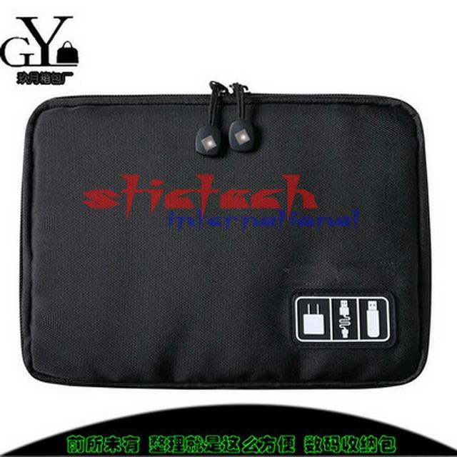 by dhl or ems 50pcs Travel Bags Data Cable Practical Earphone Wire Storage Laptop Accessories Bag  Flash Disk Case