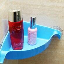 Zlinkj 1 unids 4 colores nueva llegada estante de la esquina ventosa baño  cocina ABS + plástico orgnazation baño estante dd5f5a7b24bb