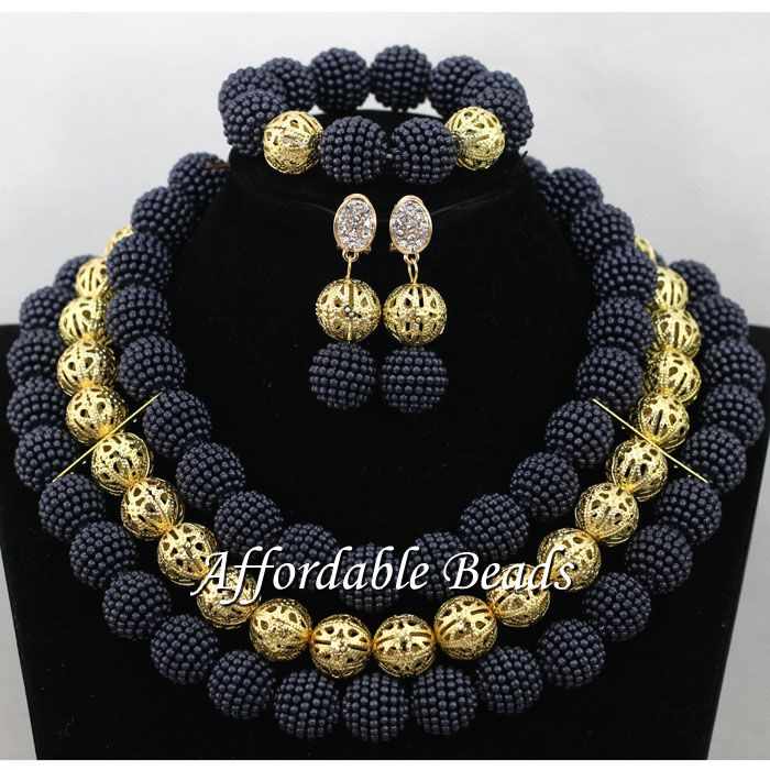 Nigerian Fashion Beads Popular African Necklace Sets Unique Style Wholesale HBS028Nigerian Fashion Beads Popular African Necklace Sets Unique Style Wholesale HBS028