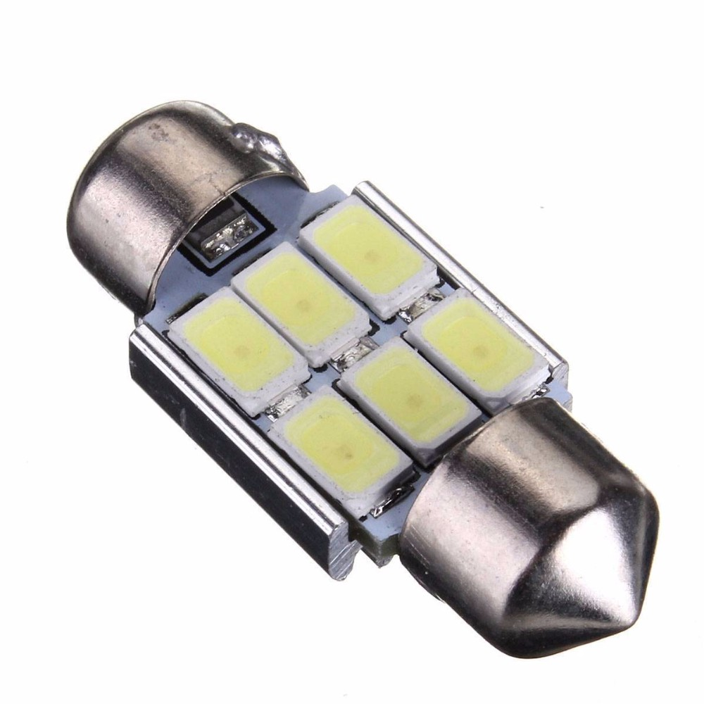 Kit 4 Lampada Torpedo 6 Led Smd 5630 Samsung Chips 3w 31 mm Can Bus