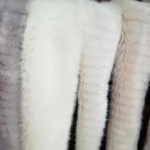 Имитация воды норки Лисий Мех открытие полосатый плюшевый искусственный мех волос для жилета куртки