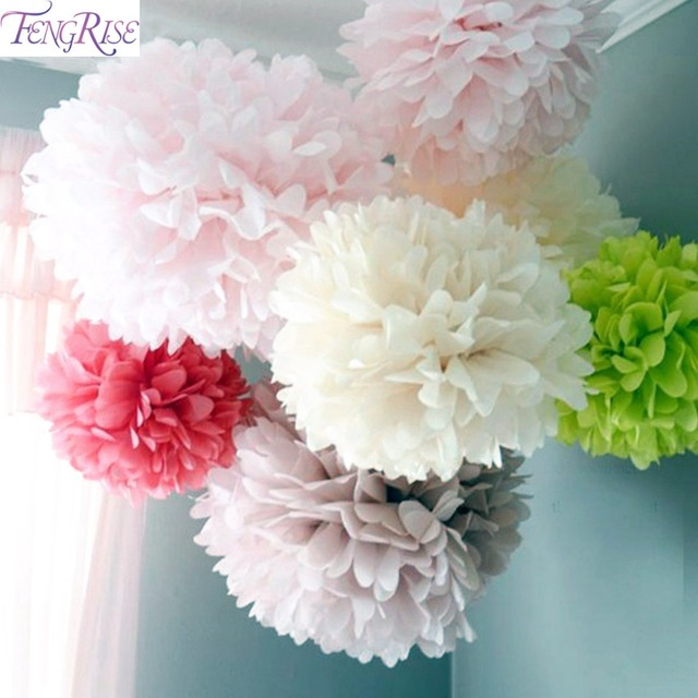 Paper Puff Ball Decorations Fair Fengrise Wedding Decoration 5Pcs 20 25 30Cm Pom Pom Tissue Paper Inspiration