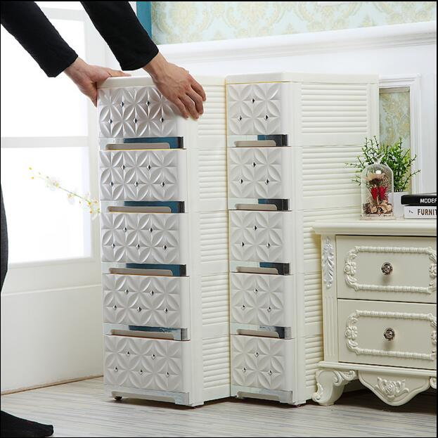 20-30cm Euclidean narrow-face interstitching in the drawer of plastic kitchen cabinet bathroom slot rack drawer